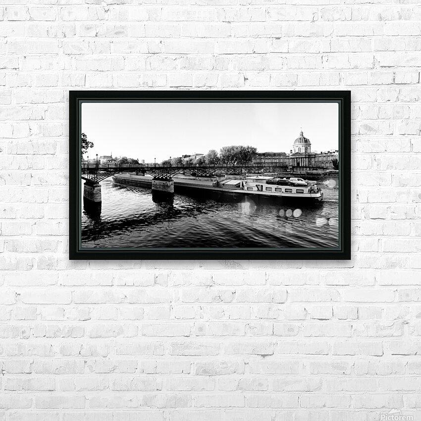 Under the Pont des Arts HD sublimation métal imprimé avec décoration flotteur cadre (boîte)