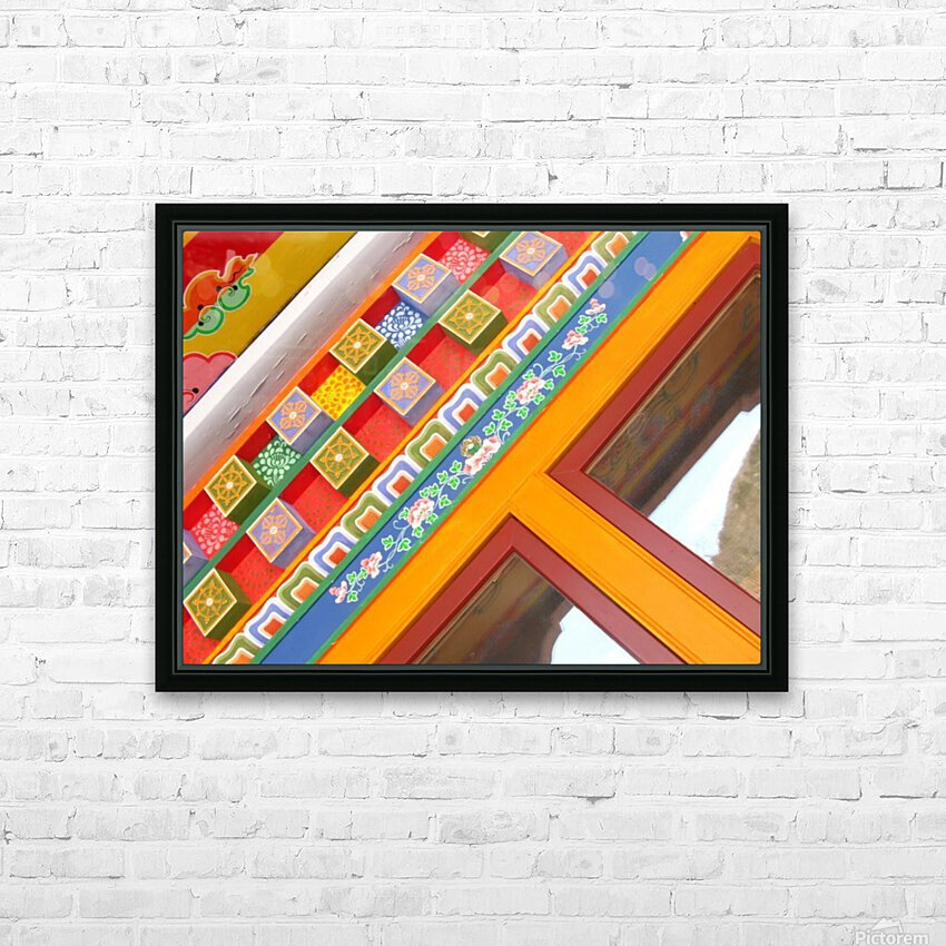 J.P.P. Eyes with Multicolored Hat HD Sublimation Metal print with Decorating Float Frame (BOX)