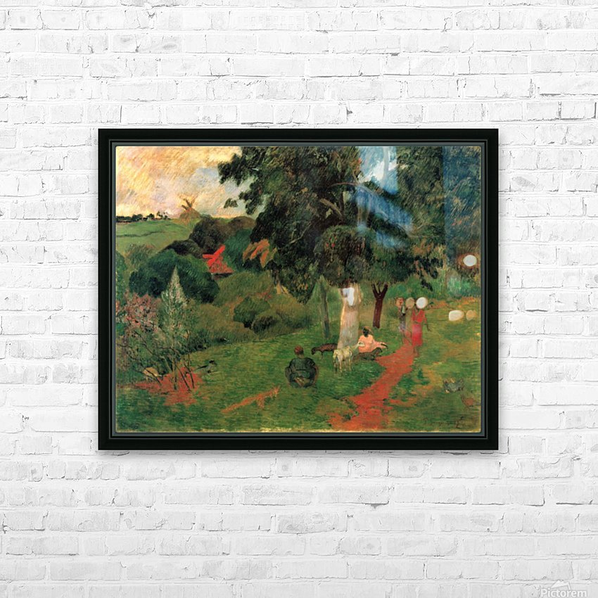 To and Fro by Gauguin HD Sublimation Metal print with Decorating Float Frame (BOX)