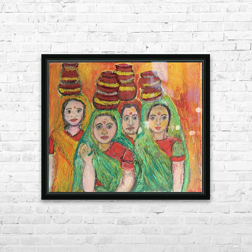 women  HD Sublimation Metal print with Decorating Float Frame (BOX)