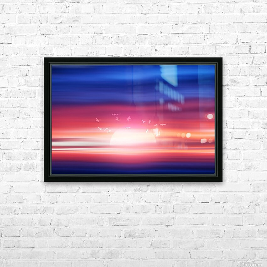 Abstract Movement XVII HD Sublimation Metal print with Decorating Float Frame (BOX)