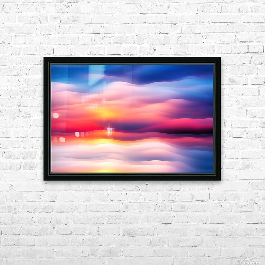 Abstract Movement XVIII HD Sublimation Metal print with Decorating Float Frame (BOX)