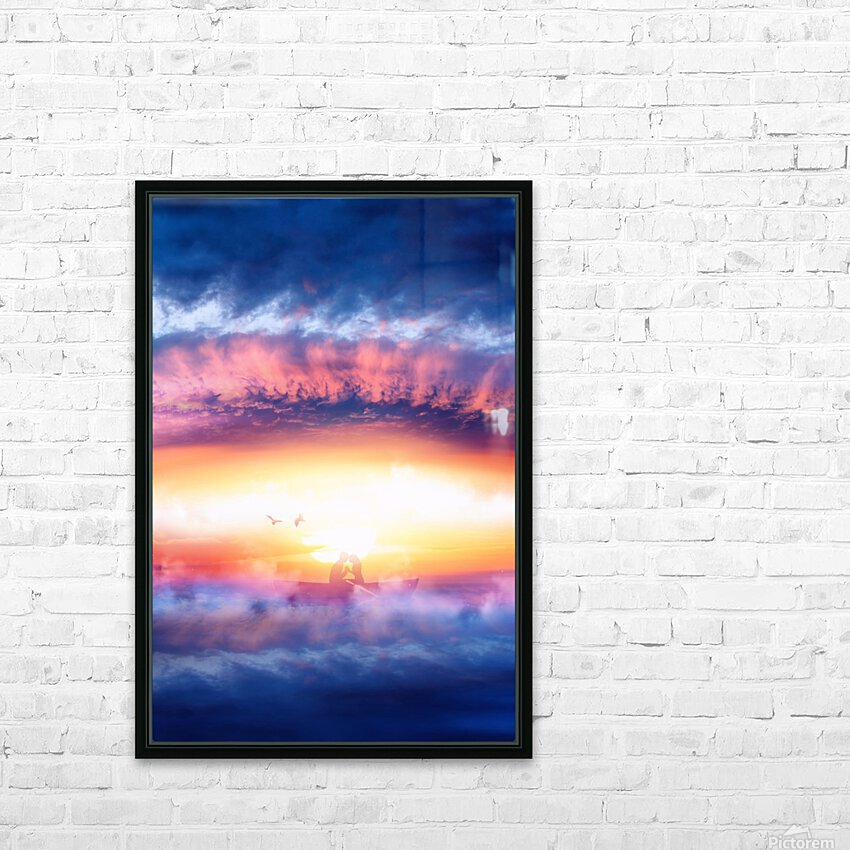 Dream Art IV HD Sublimation Metal print with Decorating Float Frame (BOX)