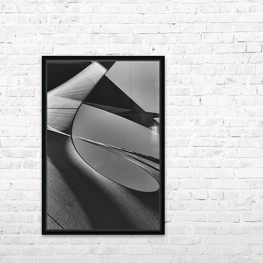 Abstract Sailcloth 13 HD Sublimation Metal print with Decorating Float Frame (BOX)
