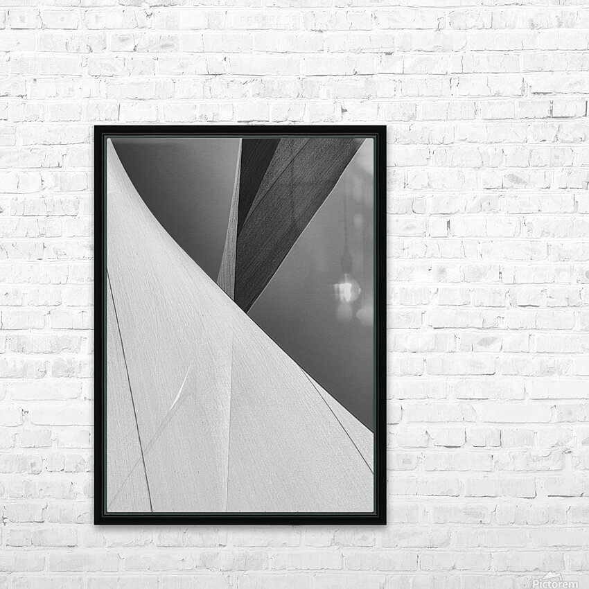 Abstract Sailcloth 2 HD Sublimation Metal print with Decorating Float Frame (BOX)