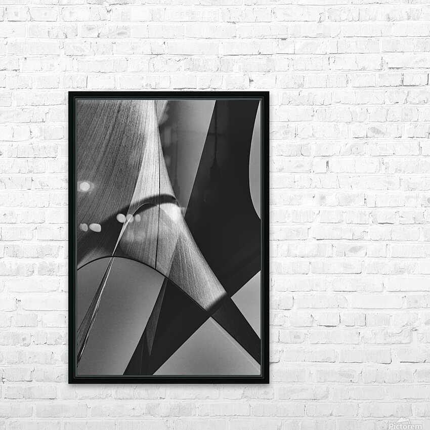 Abstract Sailcloth 16 HD Sublimation Metal print with Decorating Float Frame (BOX)
