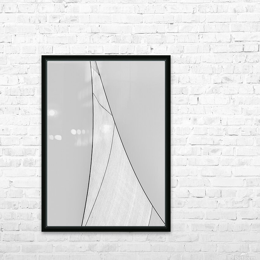 Abstract Sailcloth 18 HD Sublimation Metal print with Decorating Float Frame (BOX)