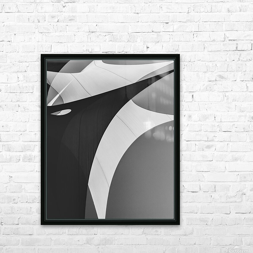 Abstract Sailcloth 4 HD Sublimation Metal print with Decorating Float Frame (BOX)