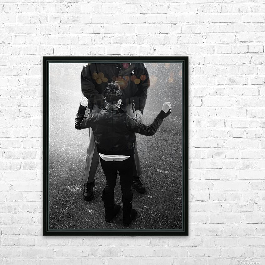 Detain and Search 2 HD Sublimation Metal print with Decorating Float Frame (BOX)