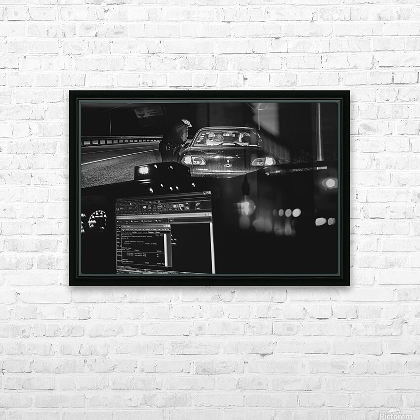 Late Night Traffic Stop 2 HD Sublimation Metal print with Decorating Float Frame (BOX)