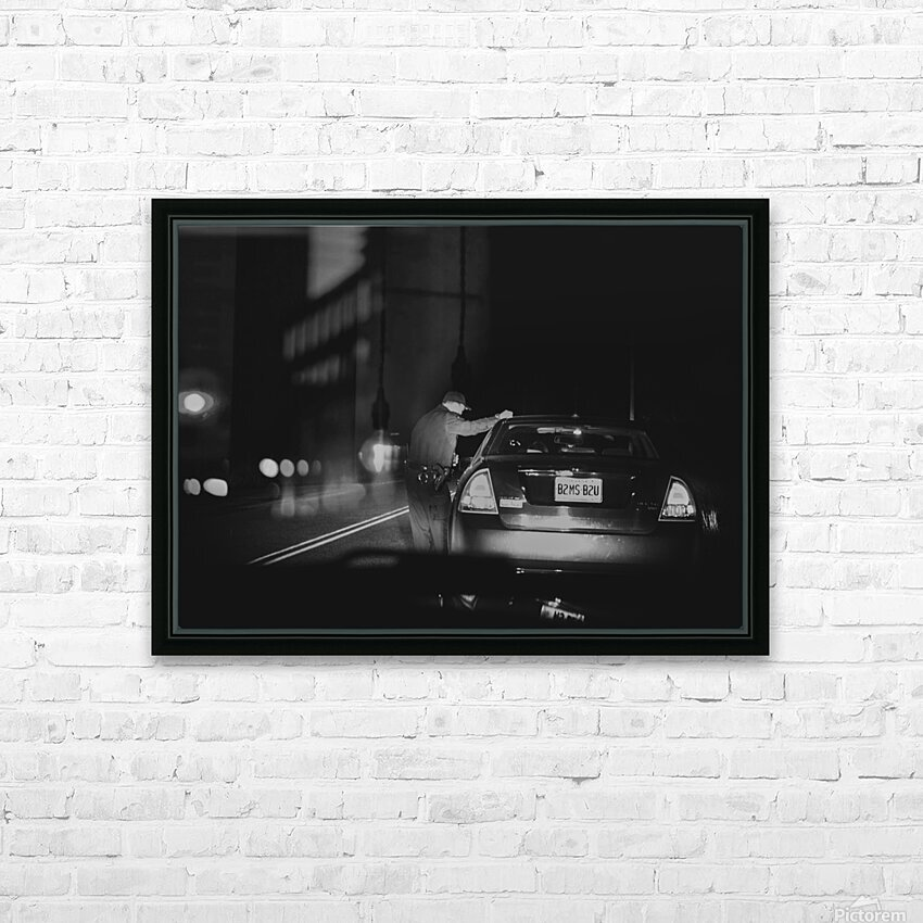 Late Night Traffic Stop HD Sublimation Metal print with Decorating Float Frame (BOX)