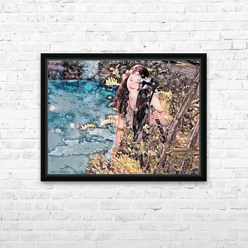 FAIRY AND THE LAKE - Art-Photo  2-4 HD Sublimation Metal print with Decorating Float Frame (BOX)