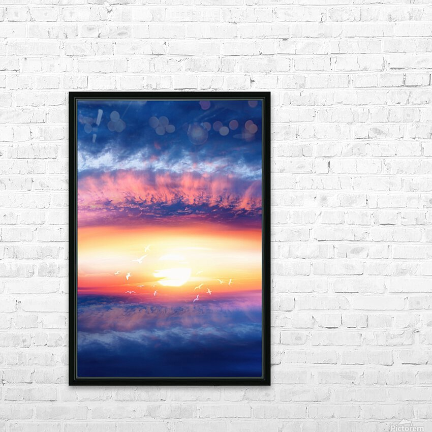 Dream Art III HD Sublimation Metal print with Decorating Float Frame (BOX)