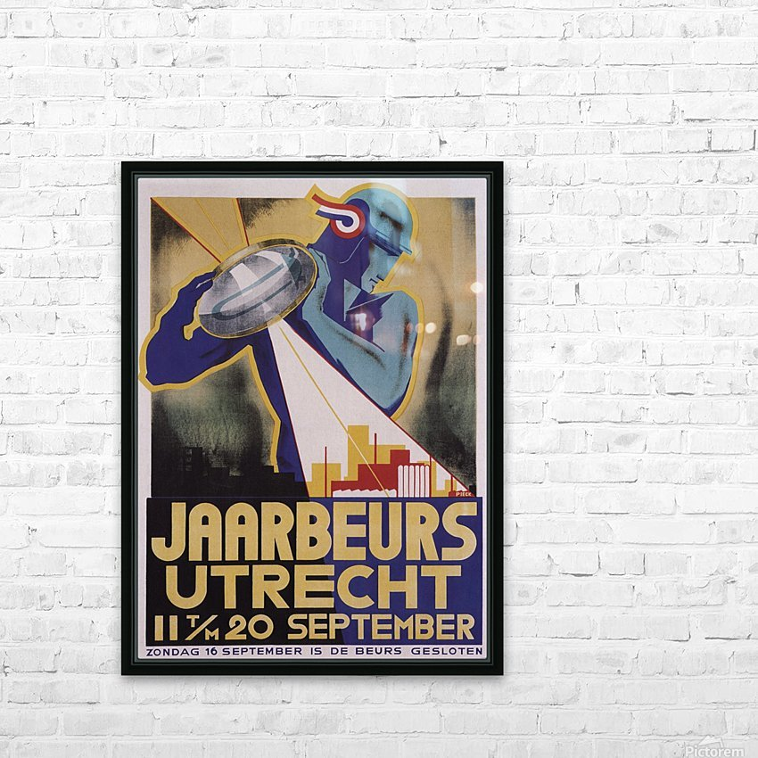Jaarberus Utrecht HD Sublimation Metal print with Decorating Float Frame (BOX)