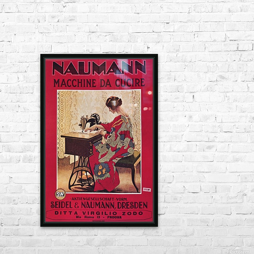 Naumann Sewing Machine HD Sublimation Metal print with Decorating Float Frame (BOX)