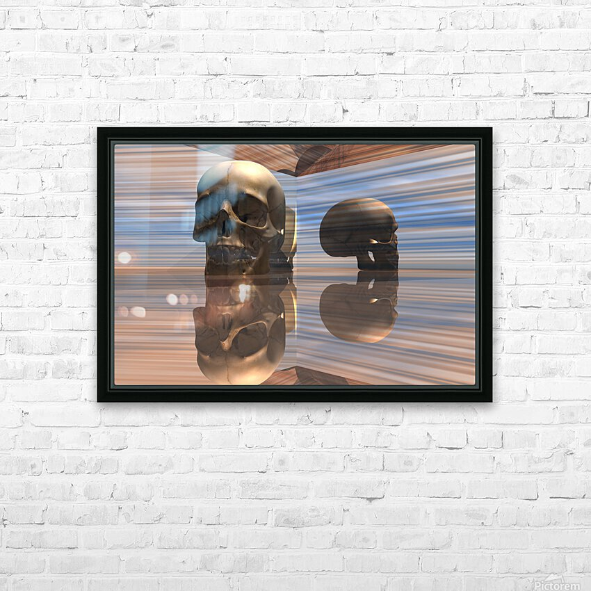 Sapiens HD Sublimation Metal print with Decorating Float Frame (BOX)