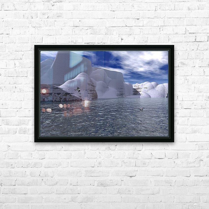 citadelle de glace HD Sublimation Metal print with Decorating Float Frame (BOX)