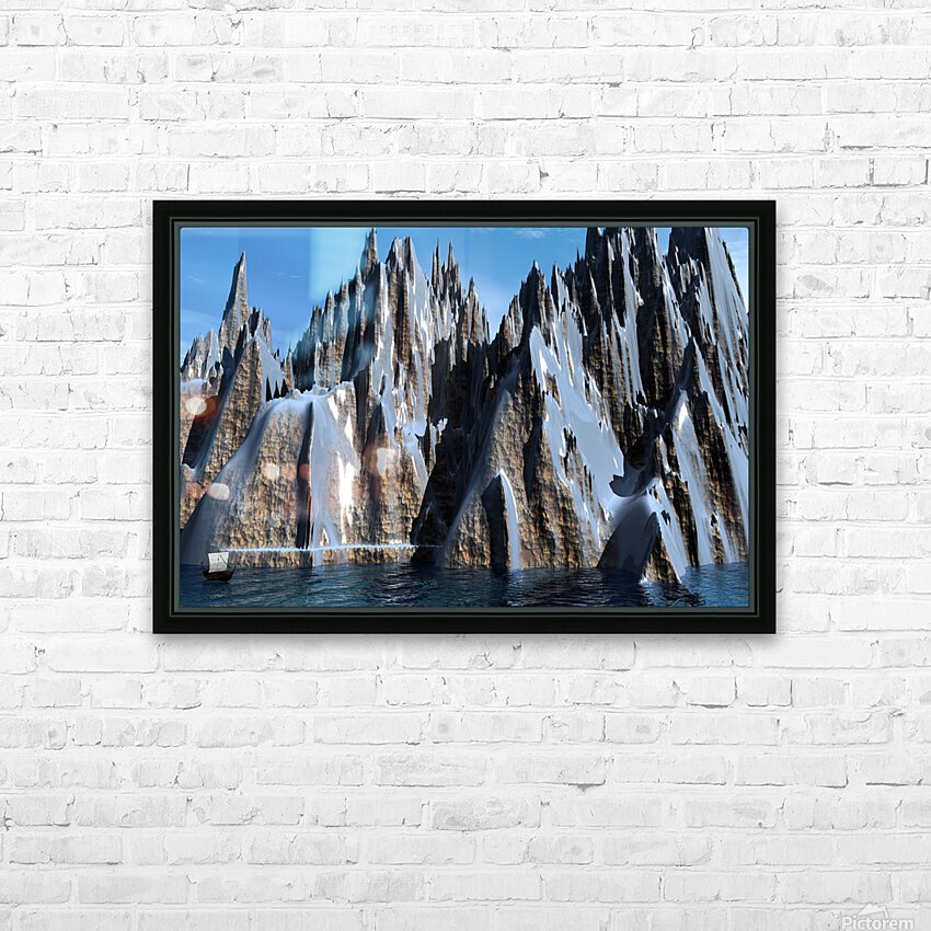 L antre d Odin HD Sublimation Metal print with Decorating Float Frame (BOX)