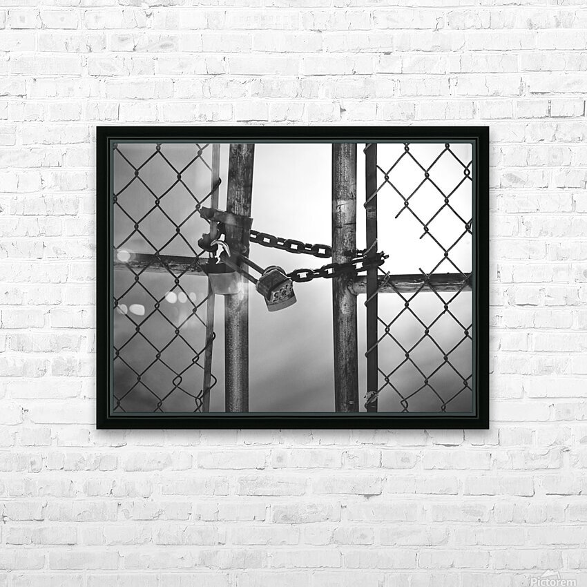 Fog Behind The Gate HD Sublimation Metal print with Decorating Float Frame (BOX)