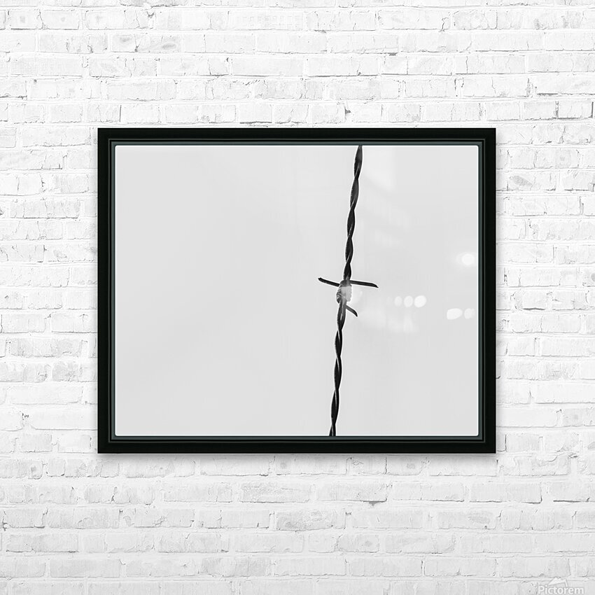 Simple Twist Of Wire HD Sublimation Metal print with Decorating Float Frame (BOX)