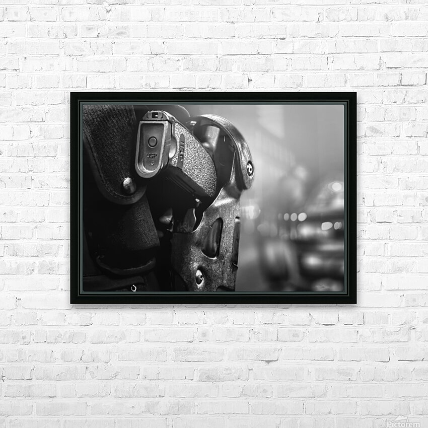 Police Backup HD Sublimation Metal print with Decorating Float Frame (BOX)