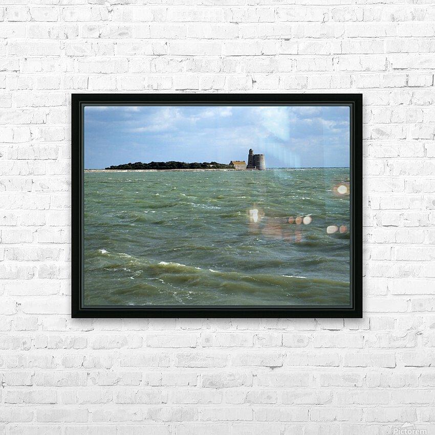 Vauban Tower on Tattihou island ile de Tattihou et sa tour Vauban HD Sublimation Metal print with Decorating Float Frame (BOX)