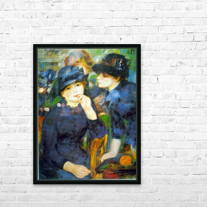 Two Girls by Renoir HD Sublimation Metal print with Decorating Float Frame (BOX)