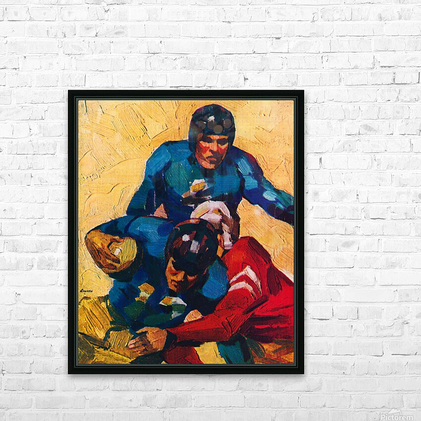 Vintage Football Players in 1946 HD Sublimation Metal print with Decorating Float Frame (BOX)