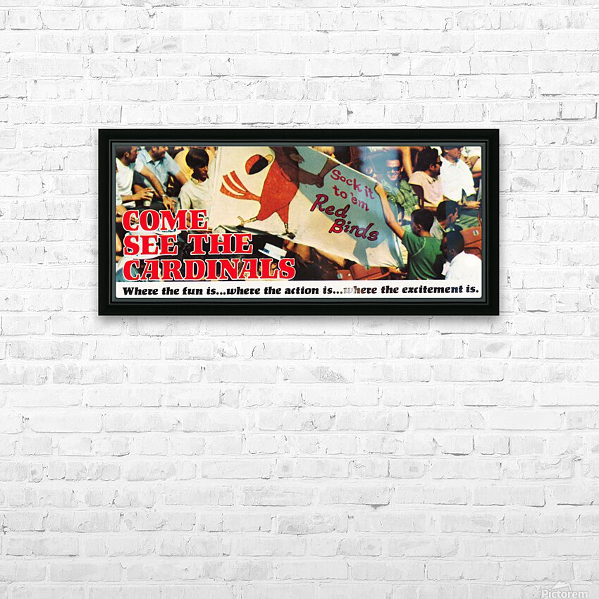 1970 St. Louis Cardinals Baseball Poster HD Sublimation Metal print with Decorating Float Frame (BOX)