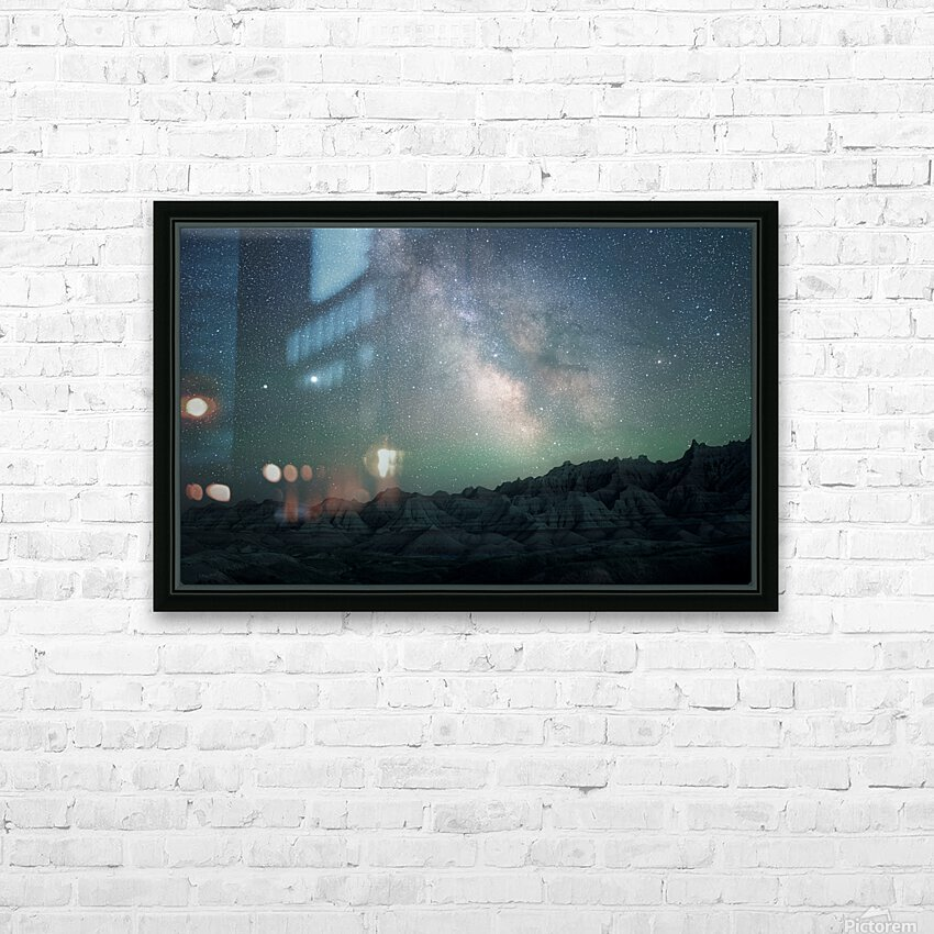 Milky Way Above The Badlands HD Sublimation Metal print with Decorating Float Frame (BOX)