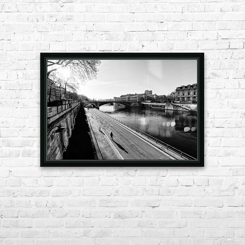 Alone in Paris HD sublimation métal imprimé avec décoration flotteur cadre (boîte)