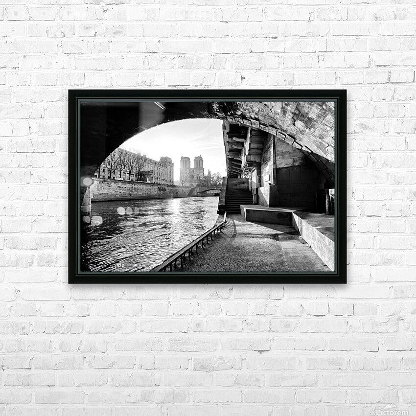 Under the bridge HD sublimation métal imprimé avec décoration flotteur cadre (boîte)