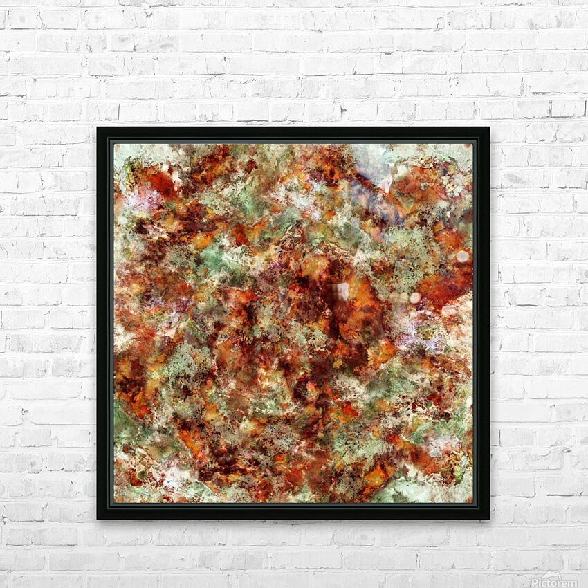 Submerged leaves HD Sublimation Metal print with Decorating Float Frame (BOX)
