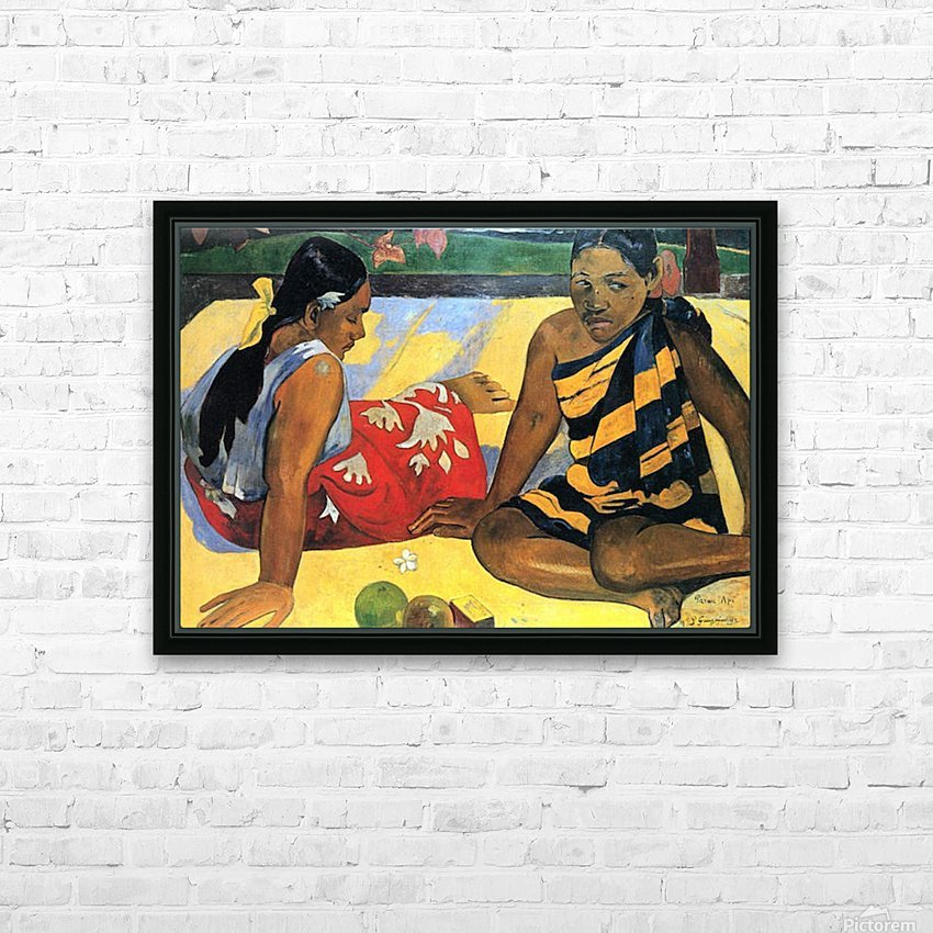 Two Women From Tahiti by Gauguin HD Sublimation Metal print with Decorating Float Frame (BOX)