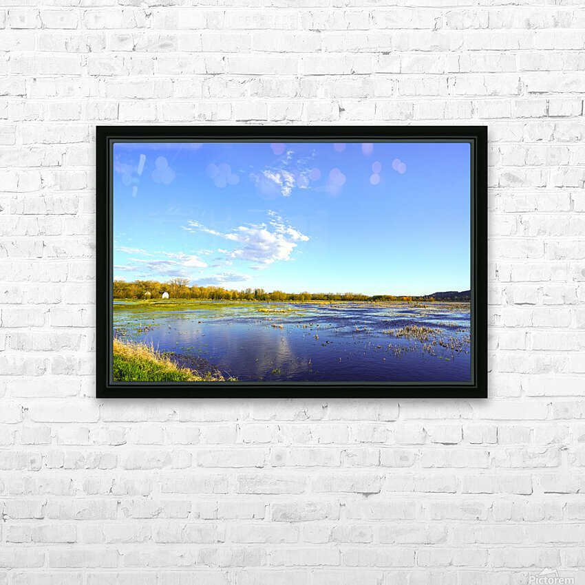 Beautiful Day at the Estuary HD Sublimation Metal print with Decorating Float Frame (BOX)