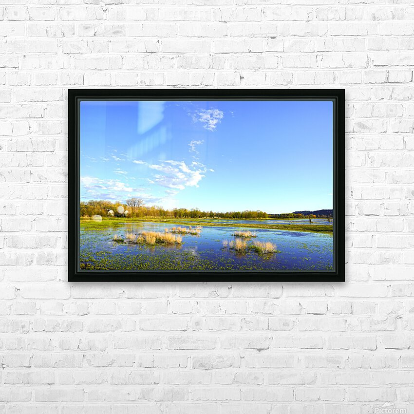 Beautiful Day at the Estuary 2 HD Sublimation Metal print with Decorating Float Frame (BOX)