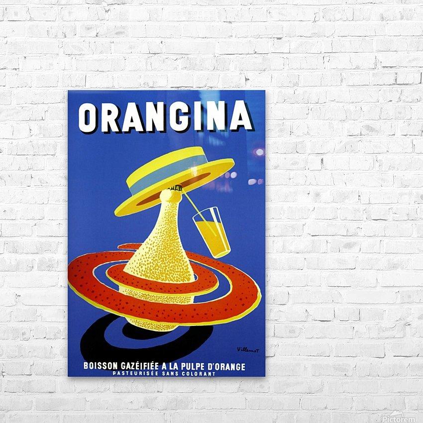 Orangina Vintage Poster HD Sublimation Metal print with Decorating Float Frame (BOX)
