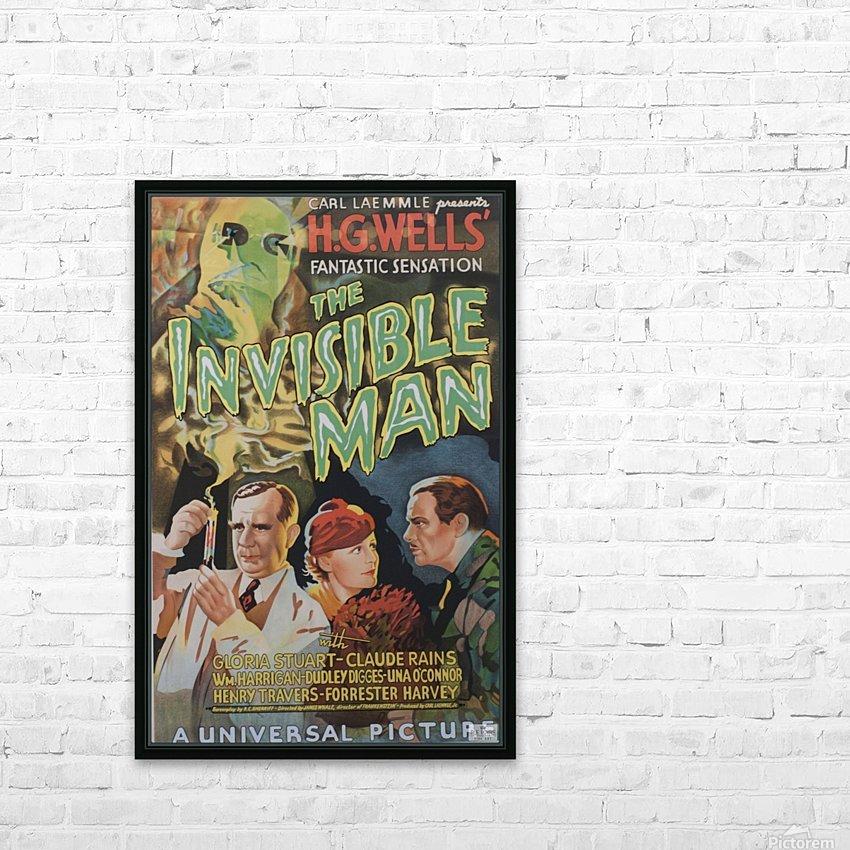 The Invisible Man Universal Picture Carl Laemmle vintage movie poster HD sublimation métal imprimé avec décoration flotteur cadre (boîte)