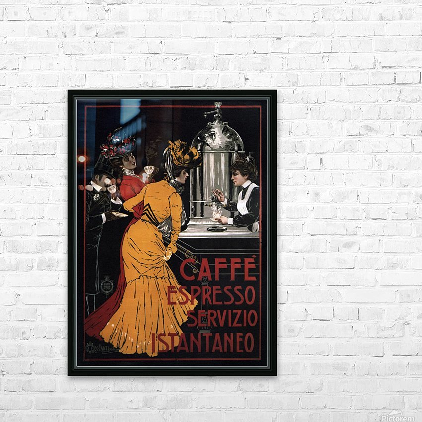 Caffe Espresso Servizio Istantaneo HD Sublimation Metal print with Decorating Float Frame (BOX)