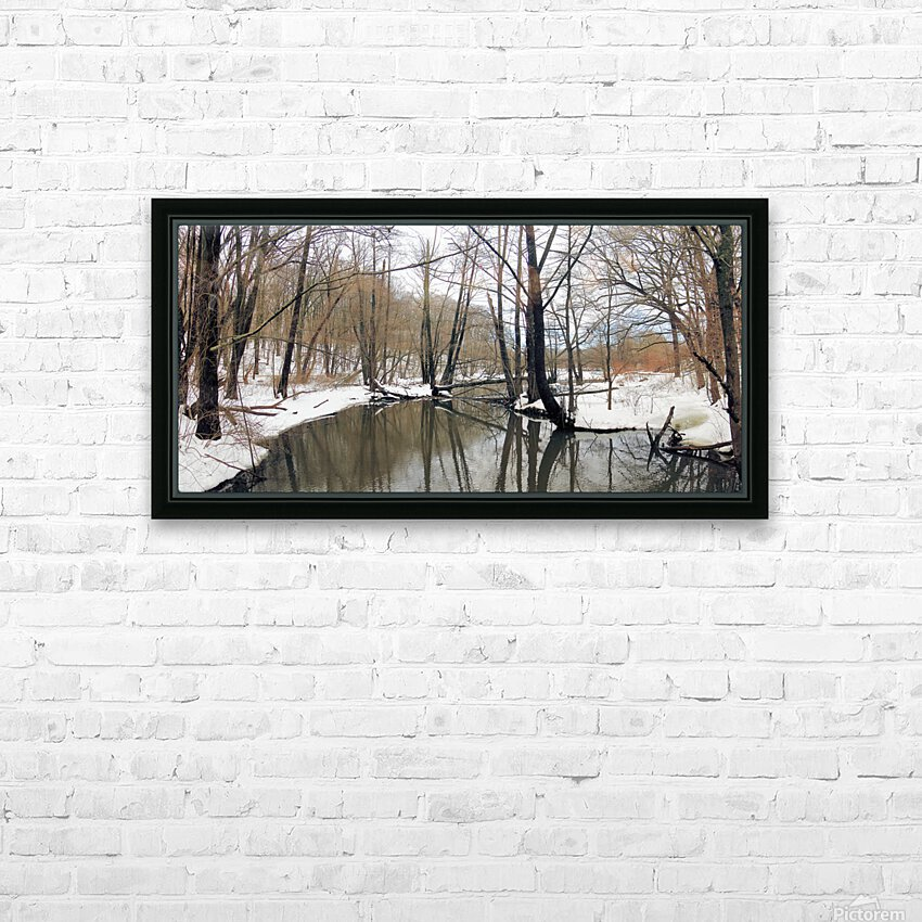 Lake Panorama HD Sublimation Metal print with Decorating Float Frame (BOX)