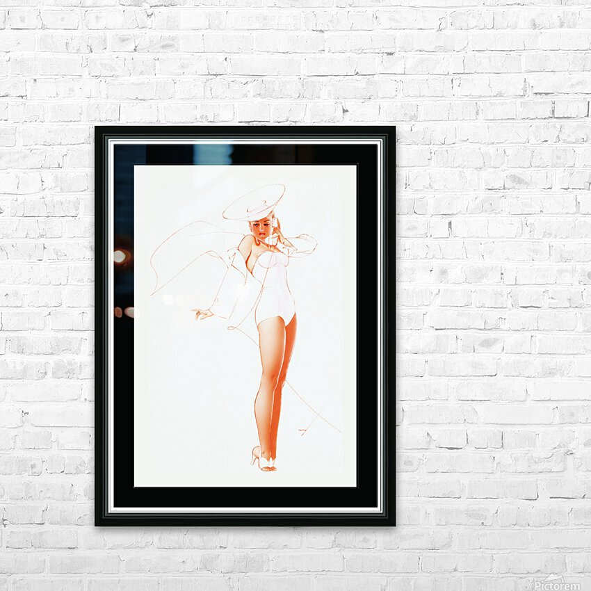 I Know What He Wants for Fathers Day by George Petty Pin-up Girl Vintage Art HD Sublimation Metal print with Decorating Float Frame (BOX)