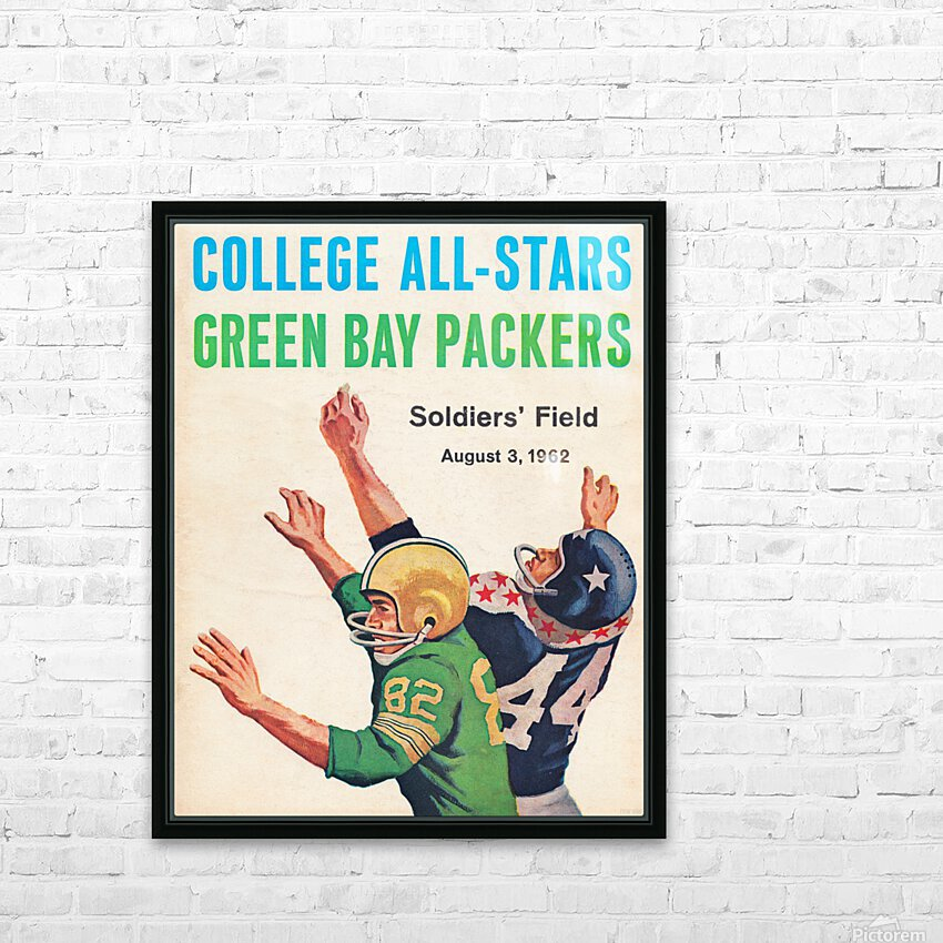 1962 Green Bay Packers vs. College All-Stars HD Sublimation Metal print with Decorating Float Frame (BOX)