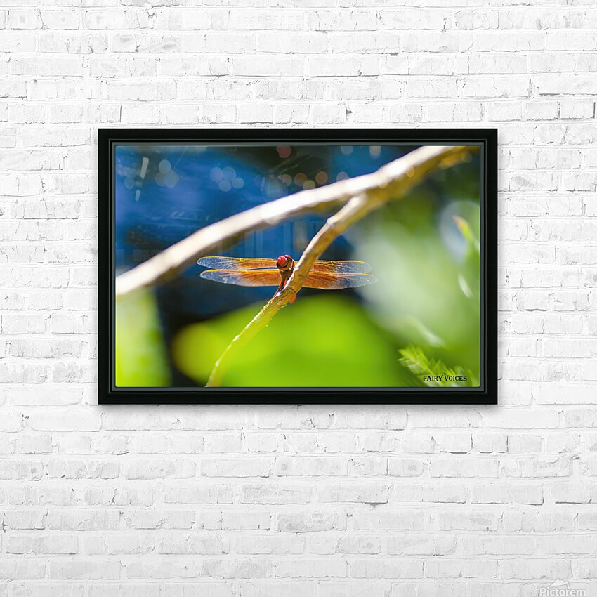 HELLO WORLD   HD Sublimation Metal print with Decorating Float Frame (BOX)