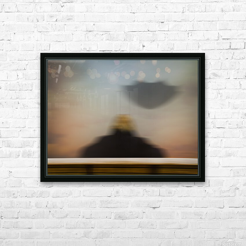 Girl With Umbrella HD Sublimation Metal print with Decorating Float Frame (BOX)