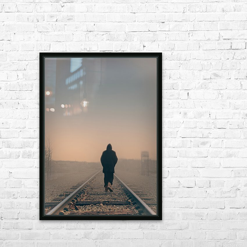 Back Walking Away HD Sublimation Metal print with Decorating Float Frame (BOX)
