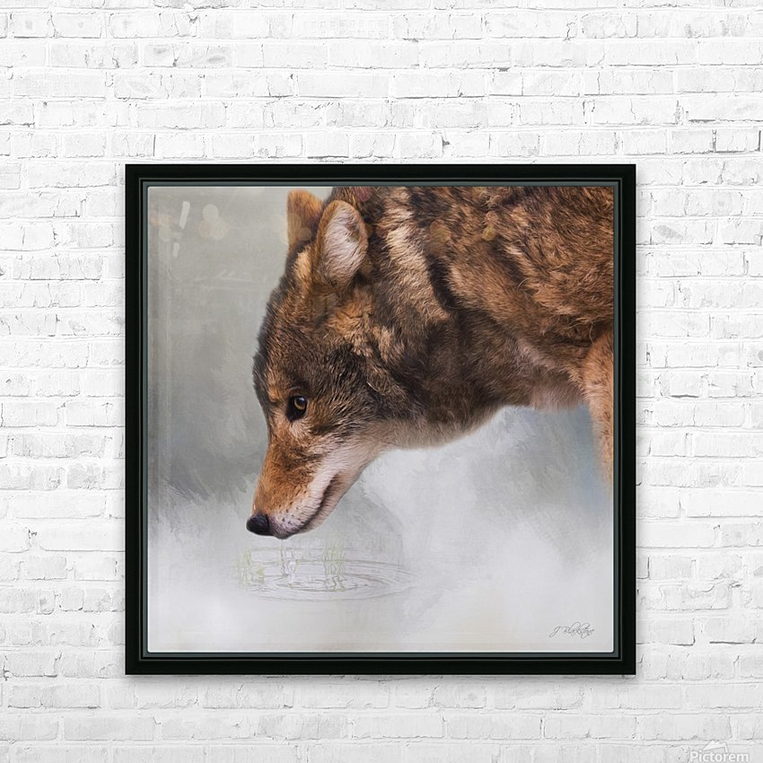 Time To Breathe - Wolf Art by Jordan Blackstone HD Sublimation Metal print with Decorating Float Frame (BOX)