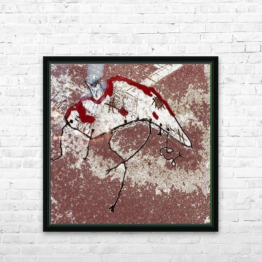 Phantom In The Snow HD Sublimation Metal print with Decorating Float Frame (BOX)