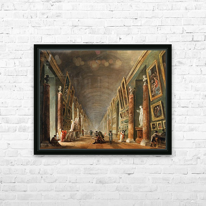 Painters in a visit at Louvre. 1790 HD Sublimation Metal print with Decorating Float Frame (BOX)