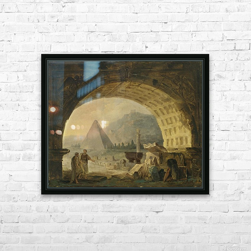 View of antiquities under an arch HD Sublimation Metal print with Decorating Float Frame (BOX)