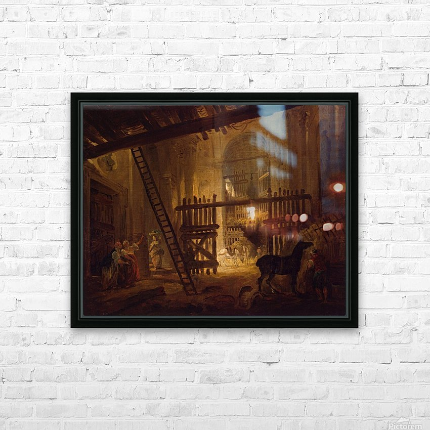 Stable in Ruins of Villa Giulia HD Sublimation Metal print with Decorating Float Frame (BOX)